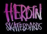Heroin skateboard brand logo
