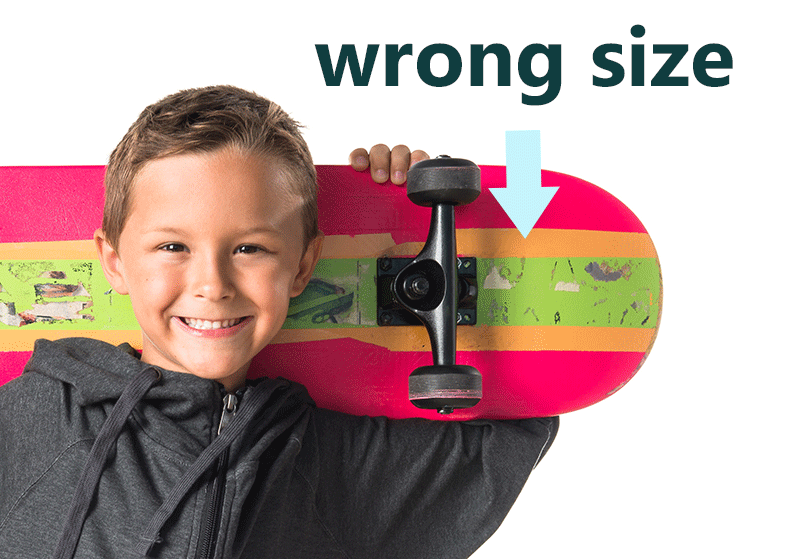 kids with an oversized skateboard for best skateboard for five year olds
