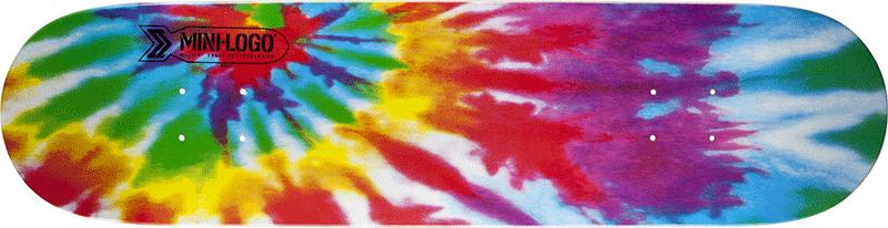 Tie Dye skateboard design