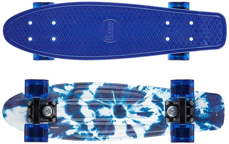 Penny Indigo Tye Die Skateboard front and top