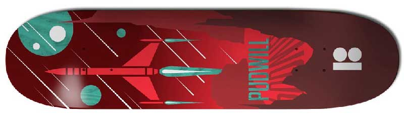 Plan B Skateboard featuring a jet in space for the best pop skateboard