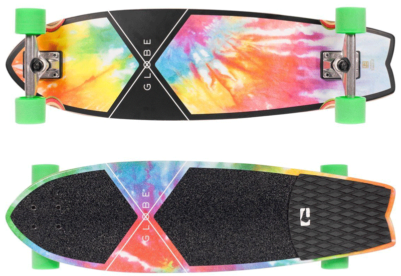 Globe Chromatic Cruiser Tie Dye Skateboard Complete akak Tie Die