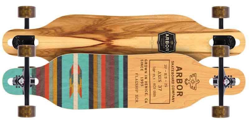 Arbor Longboard Review Flagship deck in plain color