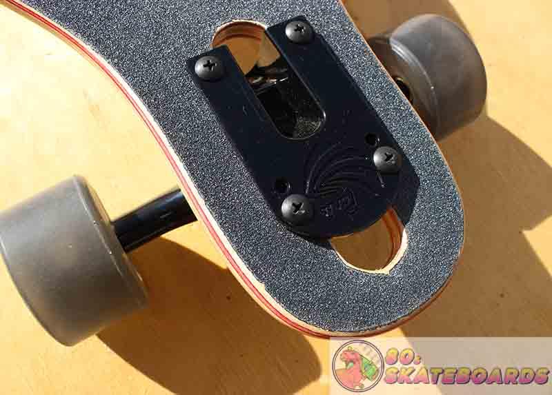 Arbor Longboard Review Closeup of wheels