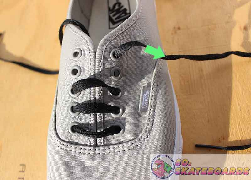 how to lace vans with 5 holes
