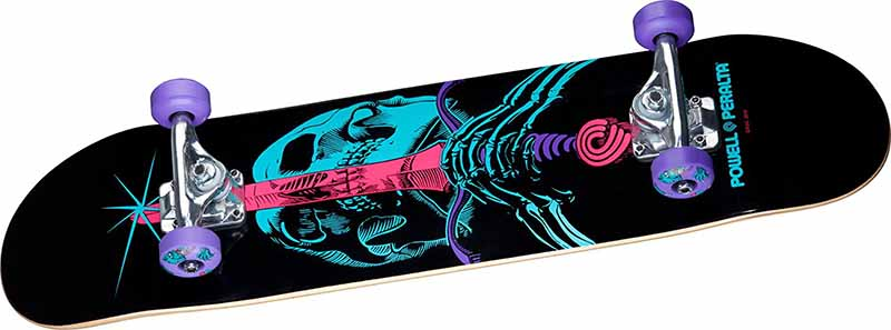 Powell Peralta Complete black and blue and pink skull color