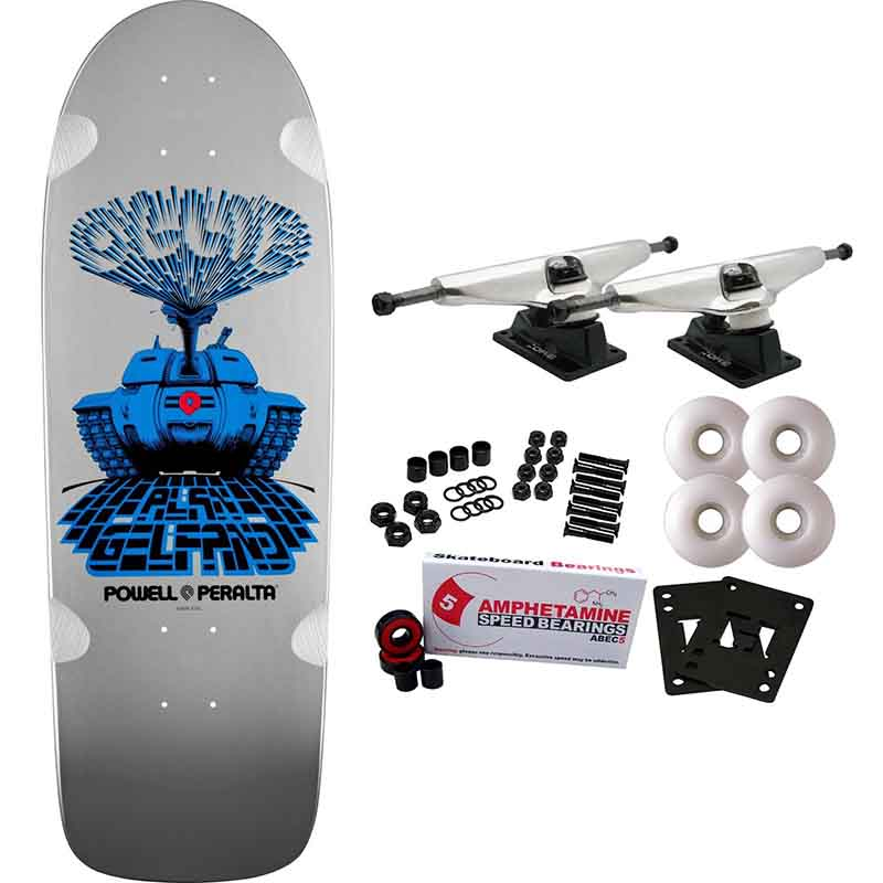 POWELL PERALTA Complete Skateboard Complete GELFAND TANK Old School SILVER Re-Issue