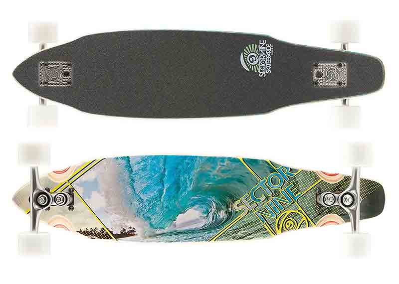 Surf Skateboards picture with wave design