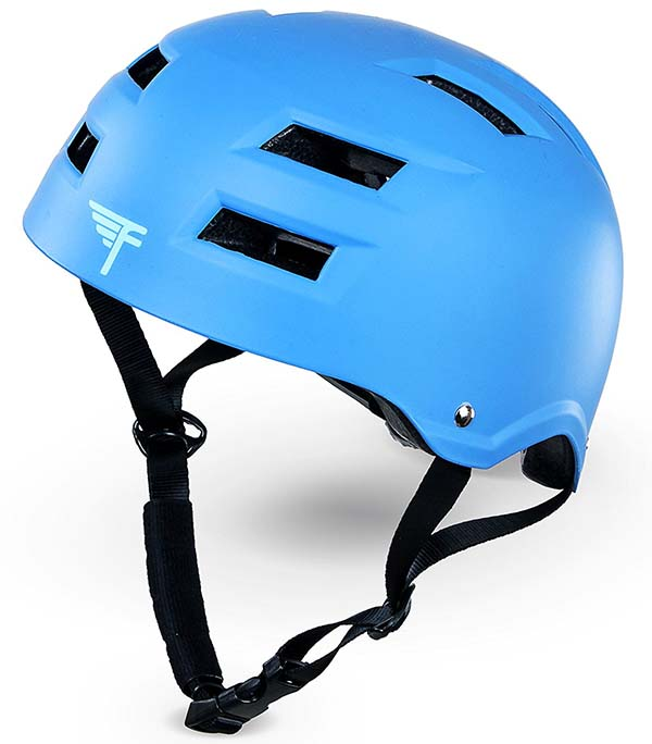 Fly Bar Dual Certified Blue Helmet with Straps