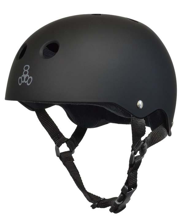 Black Triple 8 Skateboard helmet - one of the best skateboard helmets