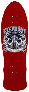 Elephant Brand Old School Deck in Red featuring an elephant with large ivory tusks