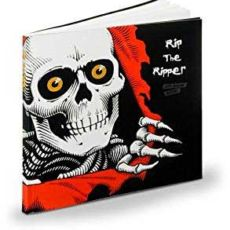 A book cover of the powell peralta ripper skeleton